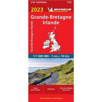 Carte Bretagne Distance.Carte Grande Bretagne Irlande 2019 Michelin
