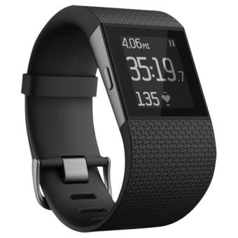 20 sur montre sport fitbit cardio gps surge noir taille l montre connect e achat prix. Black Bedroom Furniture Sets. Home Design Ideas