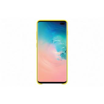 Samsung Galaxy S10 Plus Cover Cuire Jaune