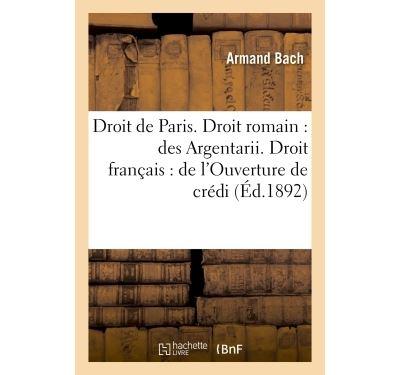 Faculte de droit de paris. droit romain : des argentarii. dr