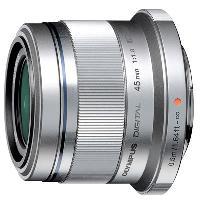 Olympus M. Zuiko Digital 45mm f/1.8 Hybride Lens Zilver