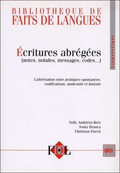 Ecritures abrégées