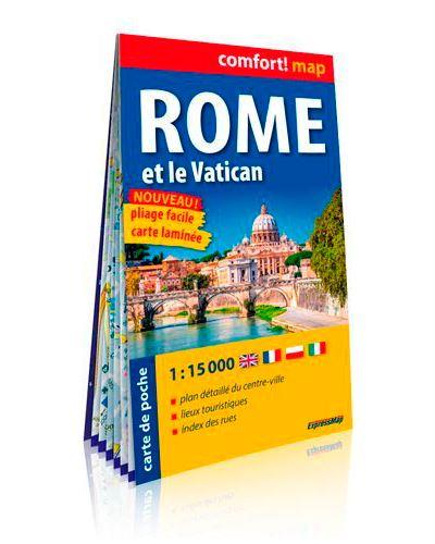 Rome et le vatican 1/15.000 (carte format de poche