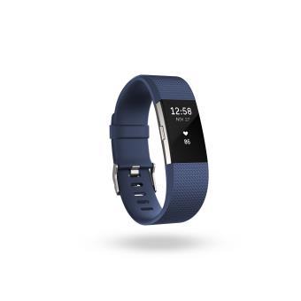 Coach de vie Fitbit Charge 2 Bleu et Argent Taille L