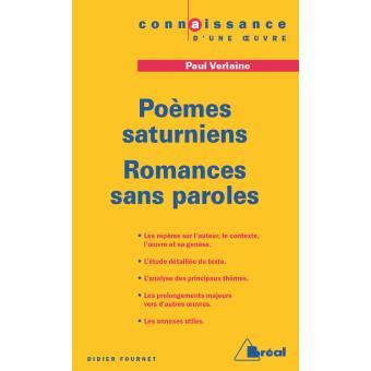Poèmes saturniens suivi de Romances sans paroles, Paul Verlaine - Didier Fournet