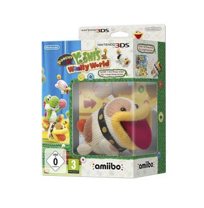 Poochy et Yoshi's Woolly World Nintendo 3DS + Figurine Amiibo Poochy de laine