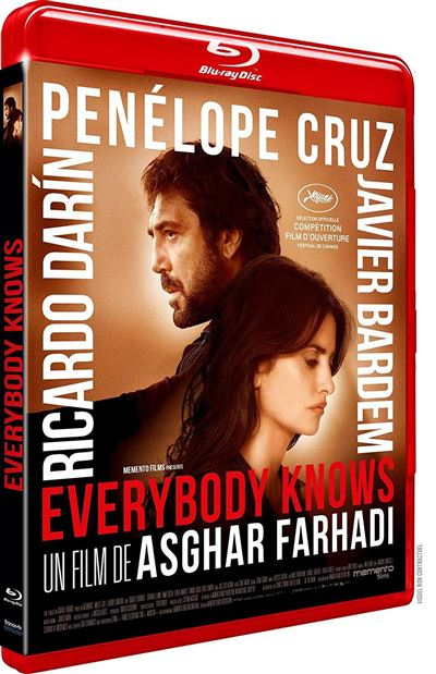 blu-ray du film Everybody knows