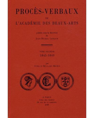 Procès-verbaux de l'Académie des Beaux-Arts