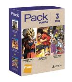 Pack Fnac 3 jeux Mangas PS4 Dragon Ball Xenoverse 2 + Saint Seiya Soldier S Soul + One Piece Pirates Warriors 3