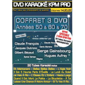 Karaoké KPM Promo Années 50 & 60 & 70 Coffret DVD