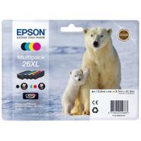Cartouches d'encre Epson Série Ours Polaire 26 XL - Multipack 4 cartouches