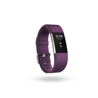 Coach de vie Fitbit Charge 2 Prune et Argent Taille L