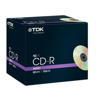 TDK CD-R audio 80 min x 10