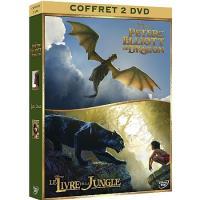 Coffret Le Livre de la Jungle Peter et Elliott le dragon DVD