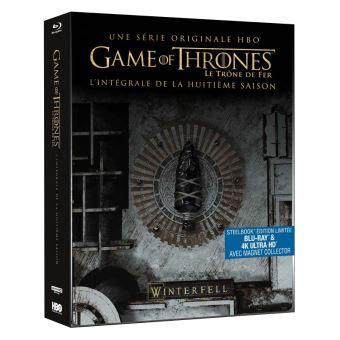 Le trône de ferGame of Thrones Saison 8 Steelbook Blu-ray 4K Ultra HD