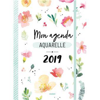 Image Aquarelle mon agenda 2019 aquarelle - cartonné - marie boudon - achat livre | fnac
