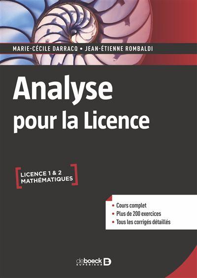 Analyse pour la licence