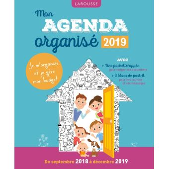 Mon agenda organisé 2019