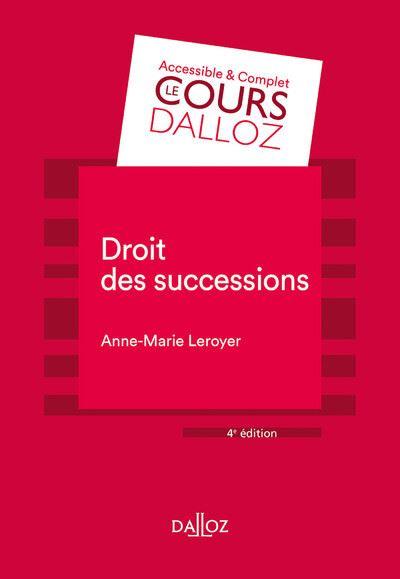 Droit des successions - 4e éd.