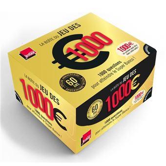 Boîte, 1000 euros anniversaire