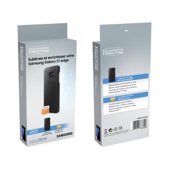SAMSUNG PACK CQ CUIR NOIR S7EDGE+CARTE S