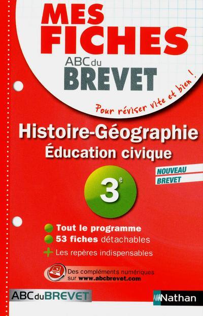 Bloc fiches pour le Brevet Histoire-Géographie