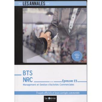 Annales BTS NRC, Epreuve E5