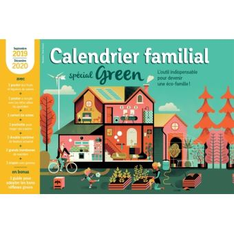Calendrier Plantation 2020.Calendrier Familial 2019 2020 Special Green