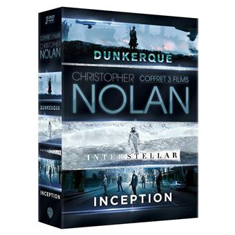Coffret Inception Interstellar Dunkerque DVD