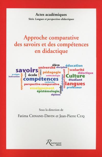 Approche comparative des savoirs et des compétences didactique