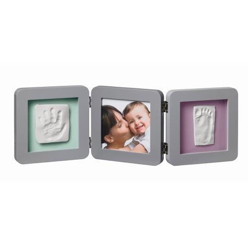 Kit de moulage et d'empreintes My Baby Touch Baby Art Cadre 3 volets Gris