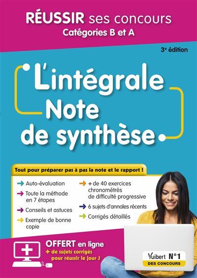 L'intégrale note de synthaxe catégories B et A 2019-2020