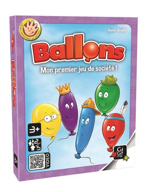 Chaque enfant a 5 jolis ballons colorés. A son tour, un joueur tourne une carte action : les griffes du chat, les piquants des roses ou le vent mauvais peuvent faire disparaître un de ses ballons... mais Maman peut le faire réapparaître. Objectif: en perd