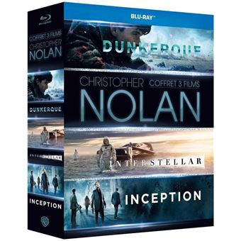 Coffret Inception Interstellar Dunkerque Blu-ray