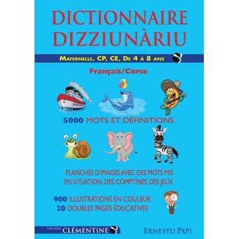Dictionnaire Illustre Francais Corse Maternelle Cp Ce1
