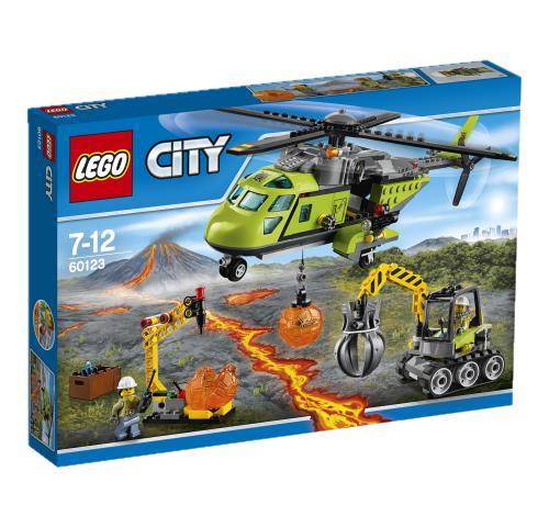 prix LEGO 60123 L Helicoptere D Approvisionnement Du Volcan