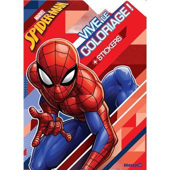 Spider-ManMarvel Spider-Man Vive le coloriage ! (Fond formes géométriques)