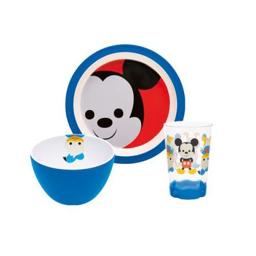 Assiette Disney Zak!designs Set enfant 3 pièces Mickey