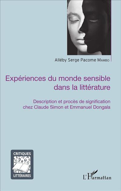 Expériences du monde sensible dans la littérature