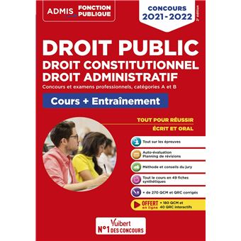 Droit public Droit constitutionnel Droit administratif Concours 2019-2020
