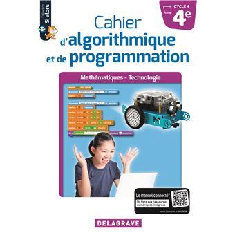 Cahier d'algorithmique et de programmation 4ème Cycle 4, Workbook
