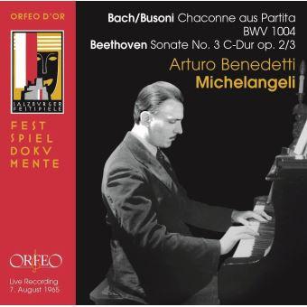 CHACONNE AUS PARTITA BWV 1004  - PIANO SONATA N° 3 OP 2/3