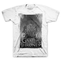 Tee-Shirt Game Of Thrones- Iron Thrones Blanc Homme Taille L