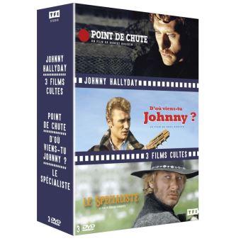 Coffret Johnny Hallyday 3 Films DVD
