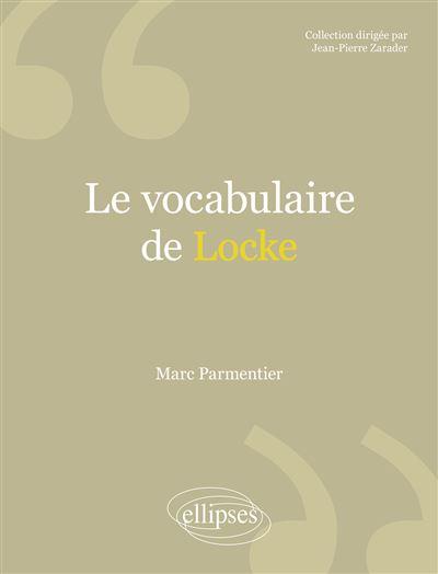 Le vocabulaire de Locke