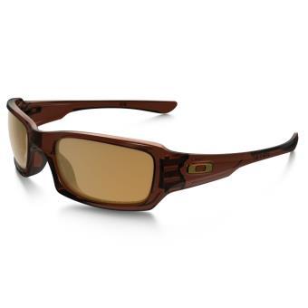 96f1b99197e3e9 Lunettes de soleil Oakley Fives Squared Polarized Marron et bronze ...