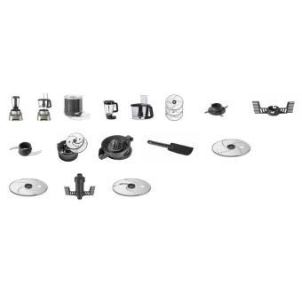 64db91b85bce9 Robot multifonctions Moulinex Double Force Digital FP826H10 1000W Gris  foncé et noir - Achat   prix