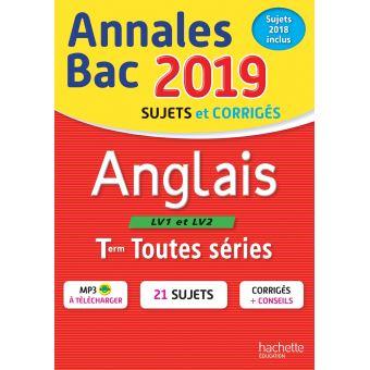 Annales Bac 2019 Anglais Tles Toutes Séries