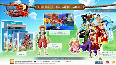One Piece Unlimited World Red Edition Chapeau de Paille 3DS - Nintendo 3DS