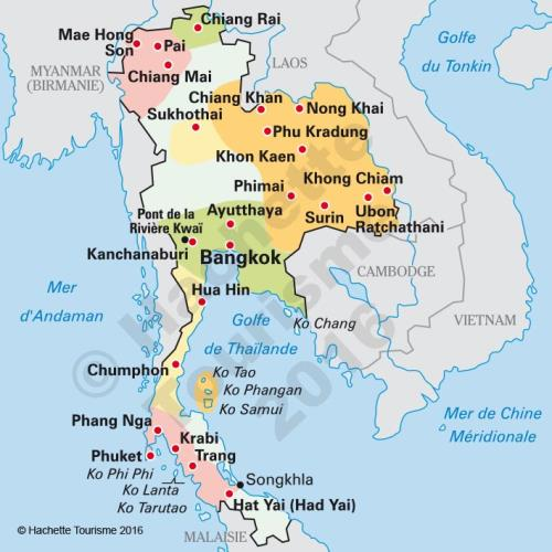 Carte Thailande Le Routard.Guide Du Routard Thailande 2016